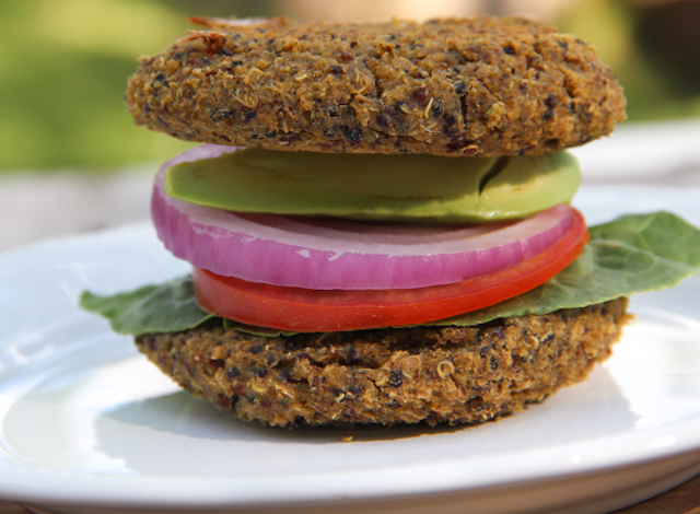 True Food Kitchen Burger true foods kitchen inspired inside out quinoa burger | the petite